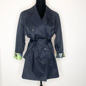 Liz Claiborne navy blue trench coat EUC large